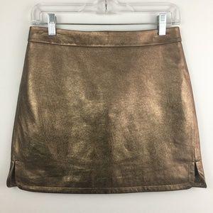 Rebecca Minkoff Madge Lamskin Lined Skirt Mini, 2